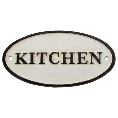 Kitchen Sign Decor (Antique/Vintage Style Cast Iron KITCHEN Wall Sign Old House/Farmhouse/Home)