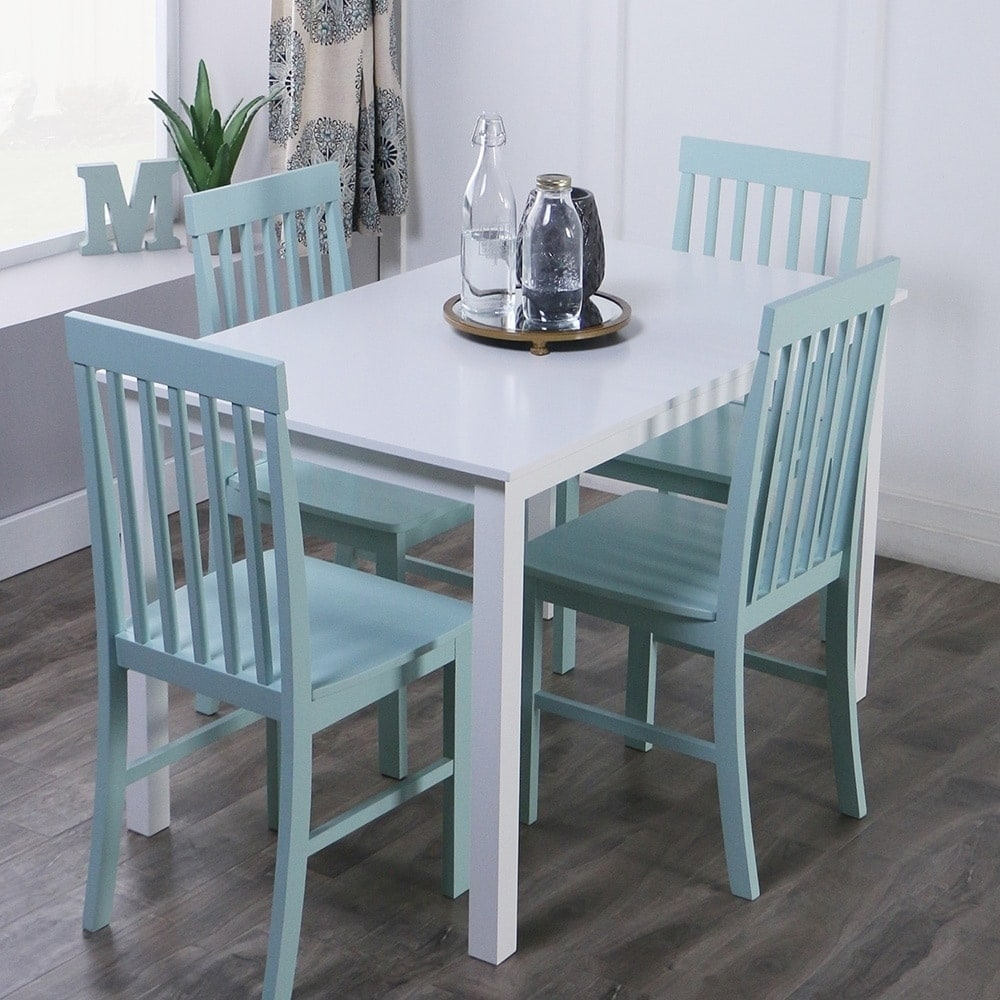 Middlebrook Designs 5-piece Dining Set White and Sage Green