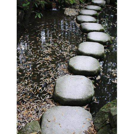 Tenjuan Wet Garden in Nanzen Ji Temple, Kyoto, Japan, Asia Print Wall Art