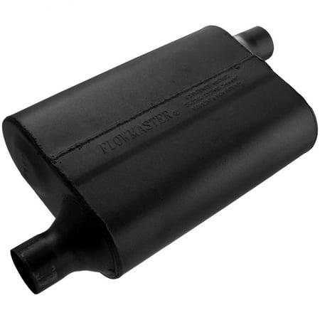 Series Delta Flow Muffler - Flowmaster 942043 40 Delta Flow Muffler - 2.00 Offset In / 2.00 Offset Out - Aggressive Sound