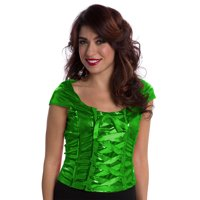 Lace-Up Green Top Women's Adult Halloween Dress Up / Role Play Costume