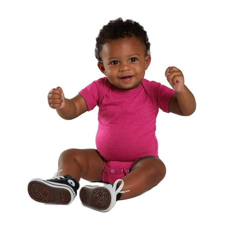 Rabbit Skins 4405 Infant Classic Bodysuit - Hot Pink - 6 (Months Infant Onesie)