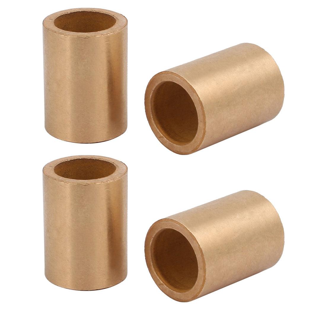 4pcs 16mmx22mmx30mm Powdered Metal Bronze Sleeve Bearing Bushing Gold Tone - image 3 of 3