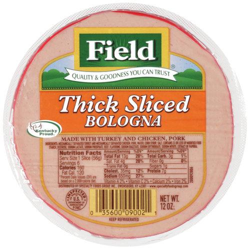 Field Thick Sliced Bologna, 12 oz