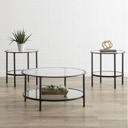 Crosley Furniture Aimee 3Pc Coffee Table Set