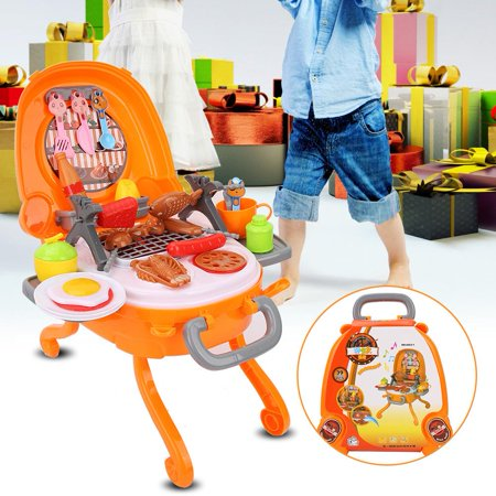 Image of LYUMO Kid Kitchen Rotisserie Grill Shop Barbecue Food Play House Toys ,BBQ Toys, Kid Barbecue Toys