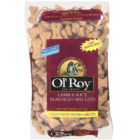 Ol' Roy Lamb & Rice Flavored Biscuits Dog Treats, 5 Lb