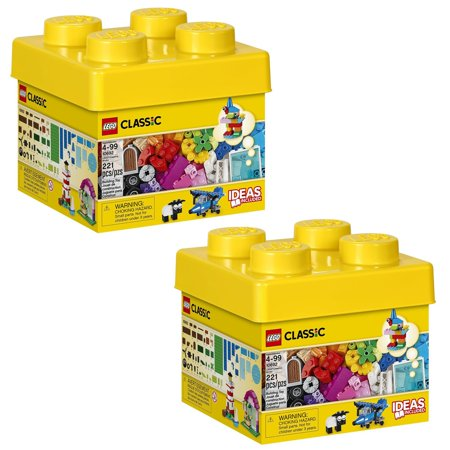 LEGO 10692 Classic Creative Bricks Kids 221 Piece Building Box Set (2 Pack) ()