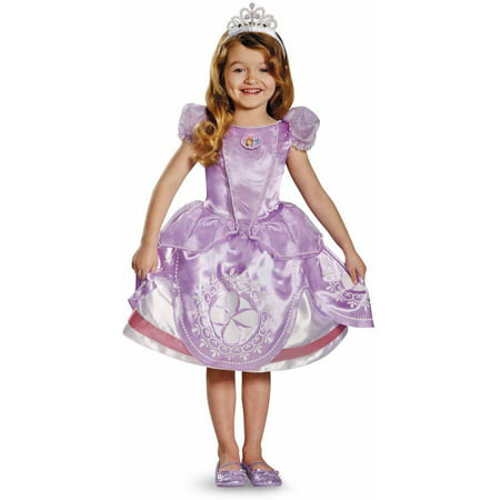 Disney Sofia the First Deluxe Girls' Toddler Halloween - Sofia Costumes