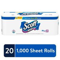 Scott 1000 Sheets Per Roll, 20 Rolls, Bath Tissue