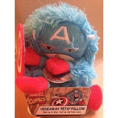 Marvel Comics Captain America Hideaway Pets Pillow Mini 5 ()