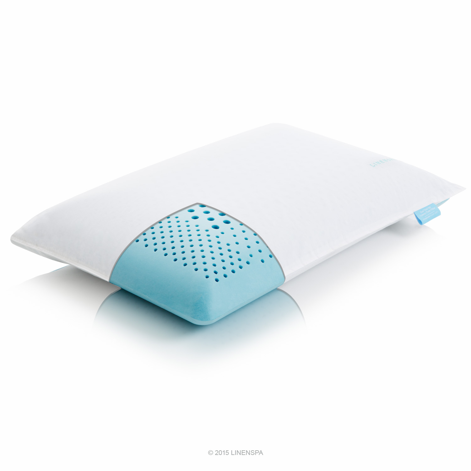 linenspa dualzone gel memory foam pillow with neck support