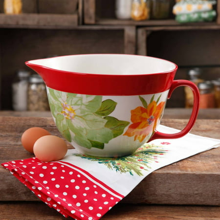 The Pioneer Woman Poinsettia Batter Bowl Only $9.97