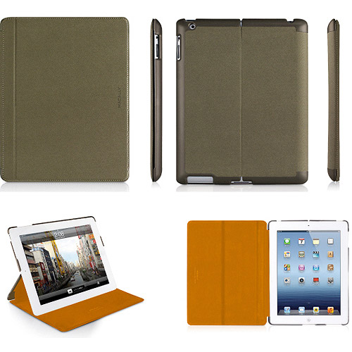 Macally MAGCOVER3M The New Ipad- R 3Rd Gen Magnetic Snap On Case - Green-Orange