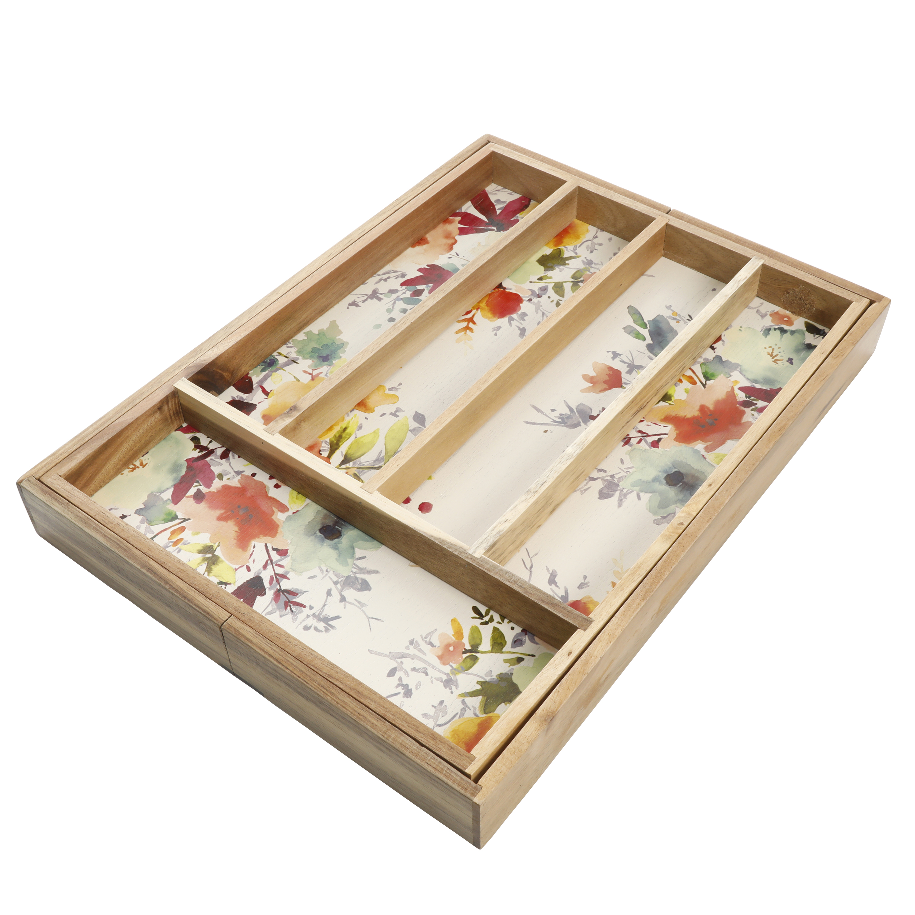 "The Pioneer Woman Willow 18"" x 13"" Expandable Cutlery Tray"