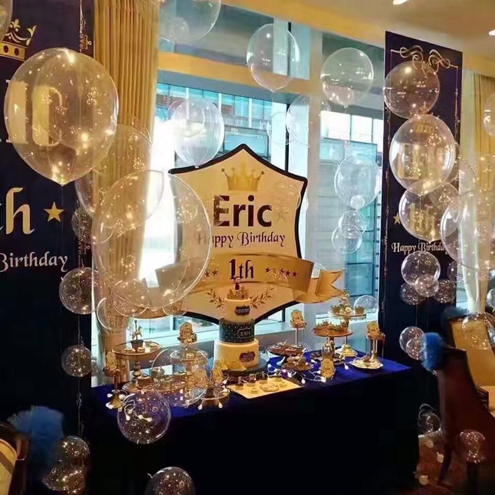 Heepo 2Pcs 18 Inch Round Foil Balloons Transparent Valentine Wedding Engagement Decor