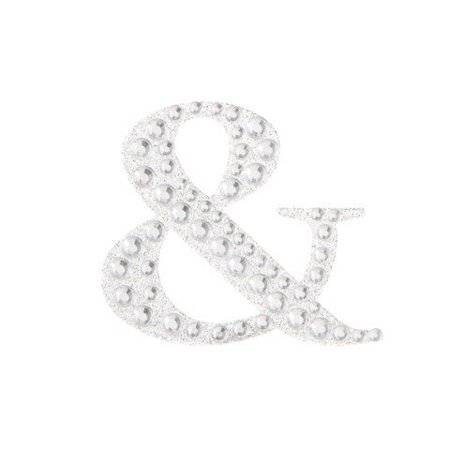 Create stunning visual art with this monogram bling sticker. Add it to a large banner or bunting to add sparkle and style to your party - Monogrammed School Supplies