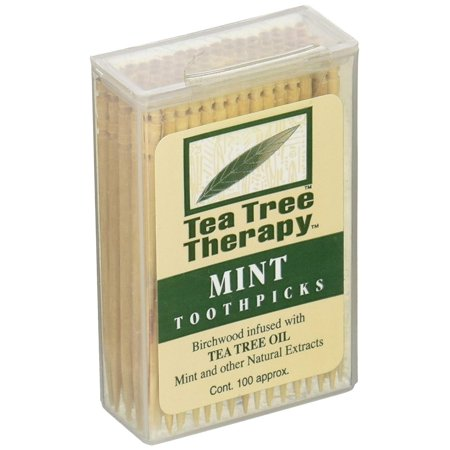 Mint Toothpicks 100 Ct (Pack of 1) Tea Tree Therapy - 1-Pack
