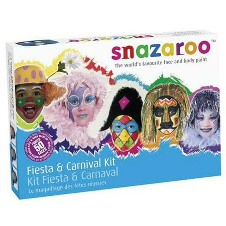 Snazaroo Face Painting Palette Kit - Rainbow Face Painting Kit - Halloween Punisher Face Paint