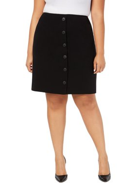 Nine West Womens Plus Embellished Business Straight Skirt