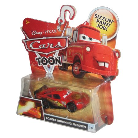 Disney Cars Toon Rescue Squad Mater Soaked Lightning McQueen Die Cast Toy Car (Lightning Mcqueen And Mater Best Friends)