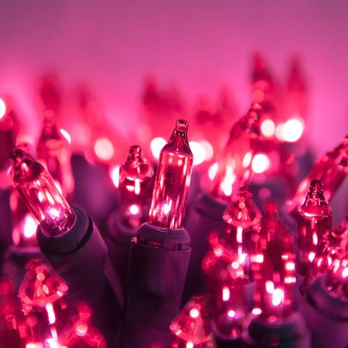 Kringle Traditions 100 Pink Mini Light String