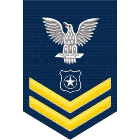 3.8 Inch Navy Gold E-5 Master At Arms MA Decal Sticker