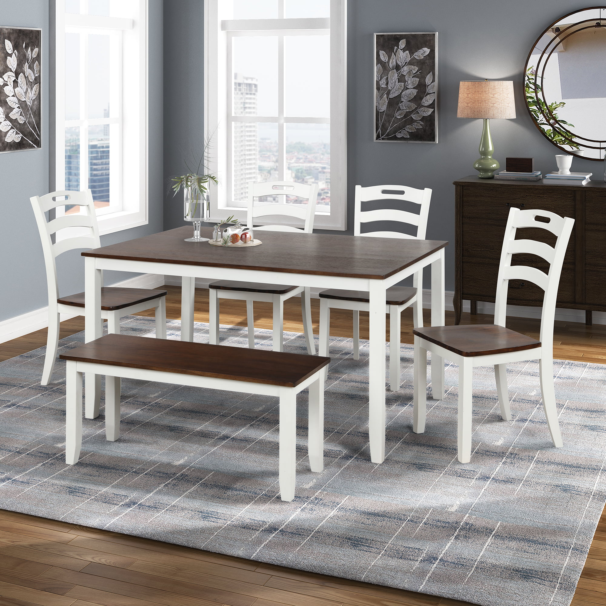 Farmhouse Dining Room Chairs Set Of 4, Farmhouse Dining Room Furniture Sets