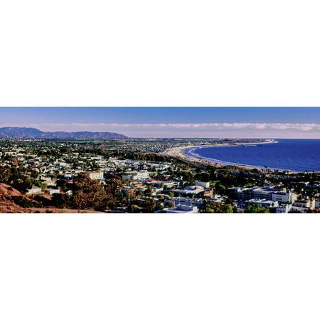 Party City Ventura (Elevated View of City at Waterfront, Ventura, California, USA Print Wall)