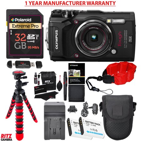Olympus Tough TG-5 Digital Camera (Black), Samsung PRO+ 32GB, 2 Spare  Batteries, Battery Charger, Ritz Gear Tripod, Camera Case and Accessory  Bundle