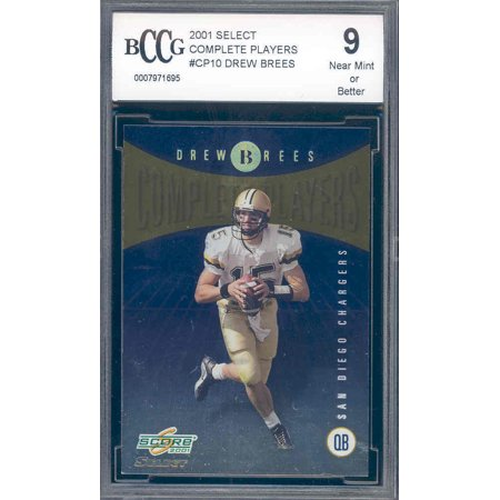 2001 Select Complete Players  Cp10 Drew Brees Rookie Bgs Bccg 9