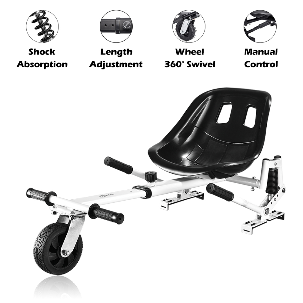 All Heights-All Ages,for Kids and Adults Not Included hoverboards Emaxusa Hoverboard Kart Seat Attachment,Go Kart Conversion Kit Hover Board Accessories with Adjustable Frame Length Compatible