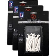 """NEW Zero Friction White Tees 1¾"""" Plastic 3 Packs of 20/ 60 Total 3 Prong / 1.75"""""""