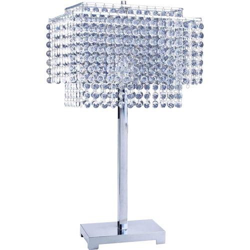 "ORE International 28"" Crystal Strings Table Lamp"