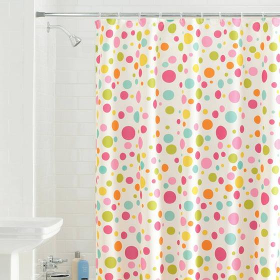 Mainstays Bright Dots Fabric Shower Curtain - Walmart.com