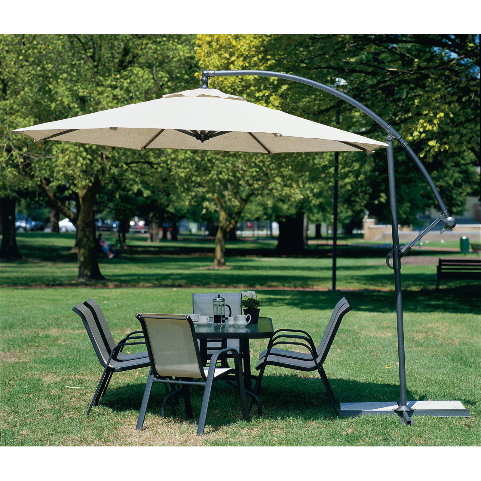 Coolaroo 10 ' Round Aluminum Cantilever Umbrella, Multiple Colors by Coolaroo/Gale Pacific USA.