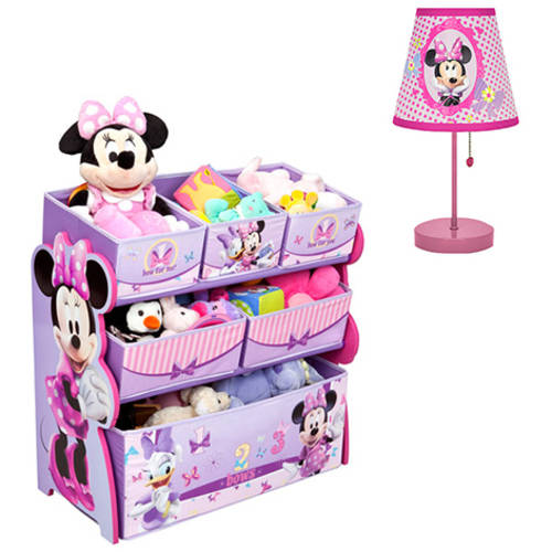 Disney Minnie Mouse Toy Organizer and Wall Art Value Bundle