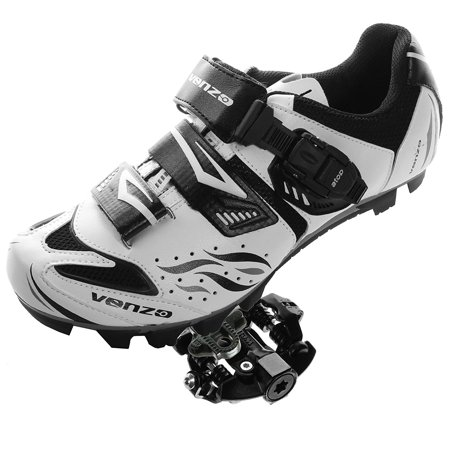 Venzo Mountain Bike Bicycle Cycling Shimano SPD Shoes + Sealed (Deore Xt Spd Pedals)