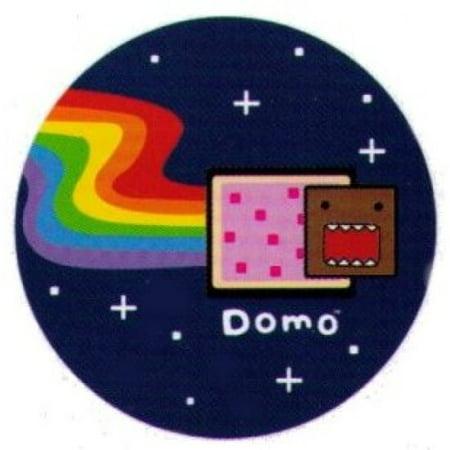 Domo-Kun Poptart Nyan Cat Domo-Kun 1.25 Inch Button (Nyan Ca)