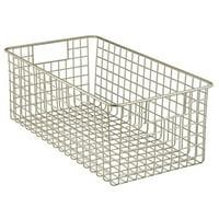 InterDesign Classico Kitchen Pantry Freezer Wire Basket Organizer, Deep, Satin