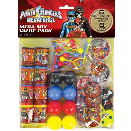 Party Favors - Power Rangers - Value Pack - 48pc Set - Power Ranger Party Supplies