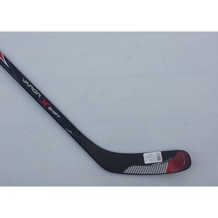 Vapor X Shift Intermediate Composite Hockey Stick with GripTac Toews P14, Left (All Black Hockey Stick)