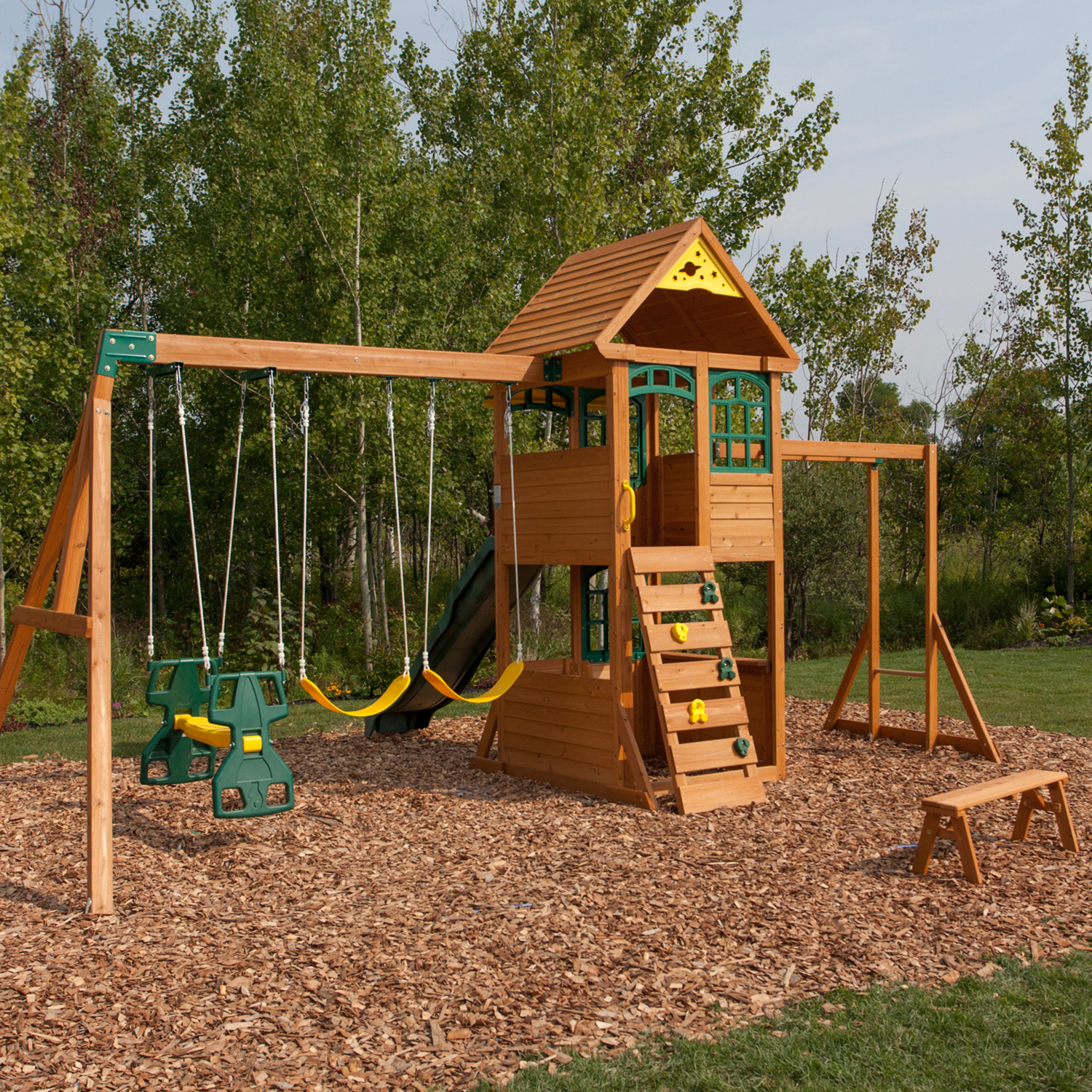 KidKraft Big Backyard Premium Halliwell Swing Set