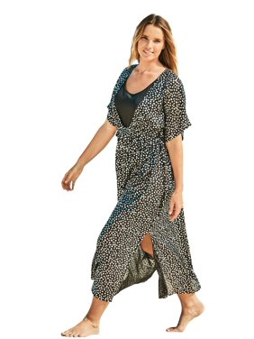 Woman Within Plus Size Long Caftan Cover Up