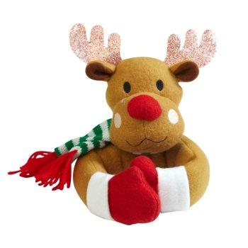 Merry & Bright Holiday Window Tiebacks, Santa and Reindeer, Set of 2