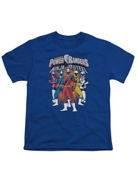 Power Rangers - Team Lineup - Youth Short Sleeve Shirt - Large