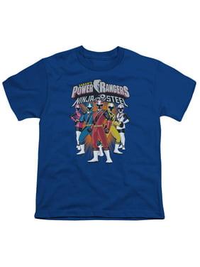 Power Rangers - Team Lineup - Youth Short Sleeve Shirt - Large