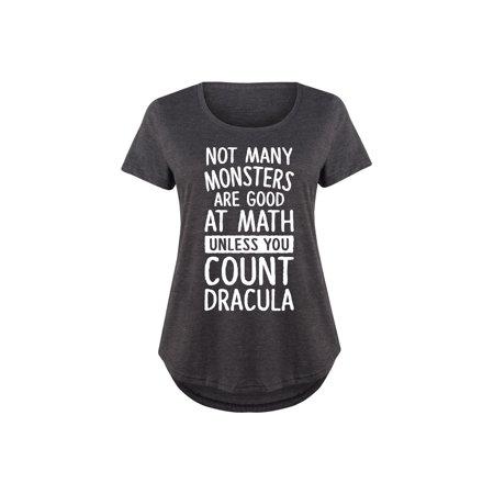 Unless You Count Dracula  - Ladies Plus Size Scoop Neck - Dracula Suit