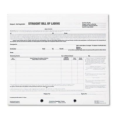 Rediform Bill of Lading Short Form 8 1/2 x 7 Three-Part Carbonless 250 Forms
