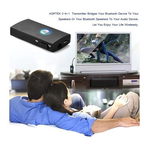 2-In-1 Wireless Bluetooth Audio Music Streaming Switchable Transmitter & Receiver For Car Stereo